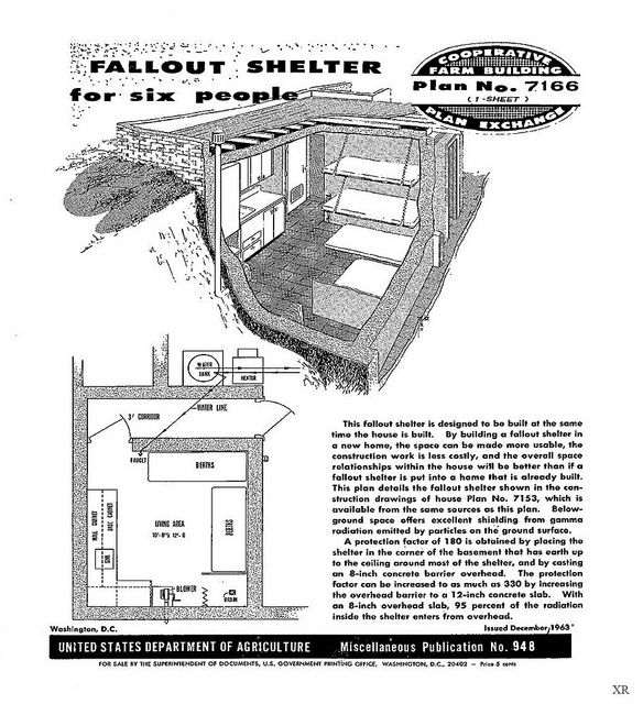 1963 Fall Out Shelter... plenty of room for six
