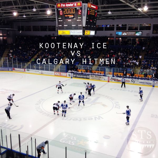 hockey game - kootenay ice vs calgary hitmen