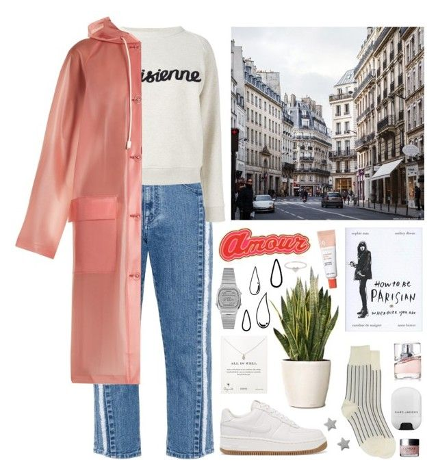 """""""rainy days"""" by s-ensible ❤ liked on Polyvore featuring STELLA McCARTNEY, Maison Kitsuné, NIKE, Burberry, Comme des Garçons, Maria Francesca Pepe, Old Navy, Gucci, Casio and Dogeared"""