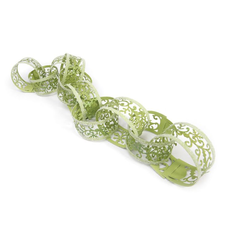 Sizzix.com - Sizzix Sizzlits Decorative Strip Die - Christmas Paper Chain w/Holly Flourish