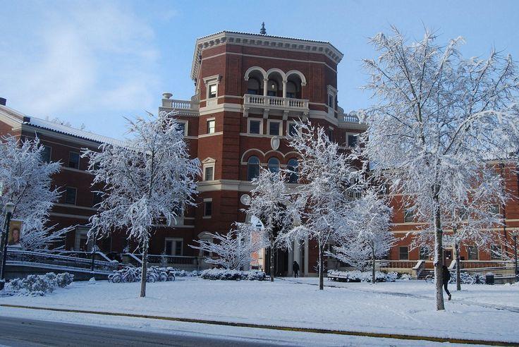 Oregon State University, Corvallis, Oregon Weatherford Hall in winter