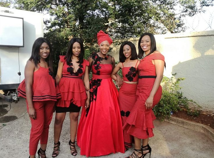 Mbali and her bridesmaids
