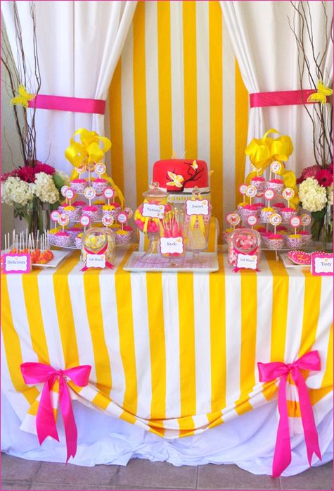 love this table!: Party'S, Butterflies Birthday, Birthday Parties, Candy Table, Color, Parties Ideas, Girls Birthday, Butterflies Parties, Desserts Tables