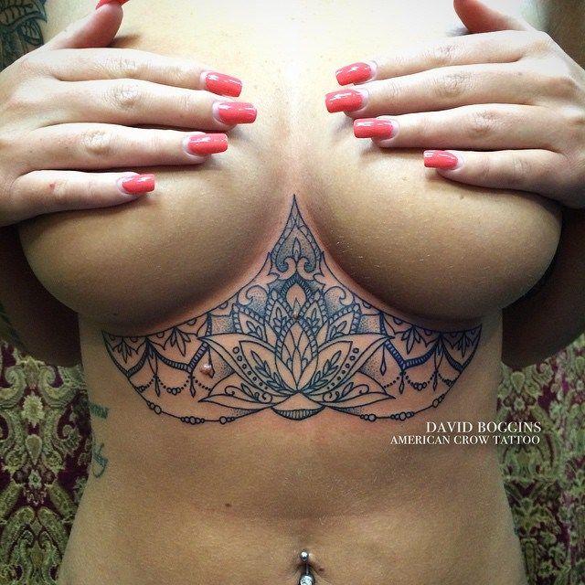 Blue Ink Mehendi Lotus Tattoo