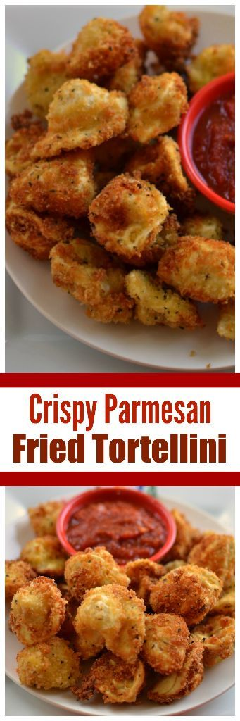 Crispy Parmesan Fried Tortellini | Fried Tortellini | Game Day Appetizer | Perfect Party Food |