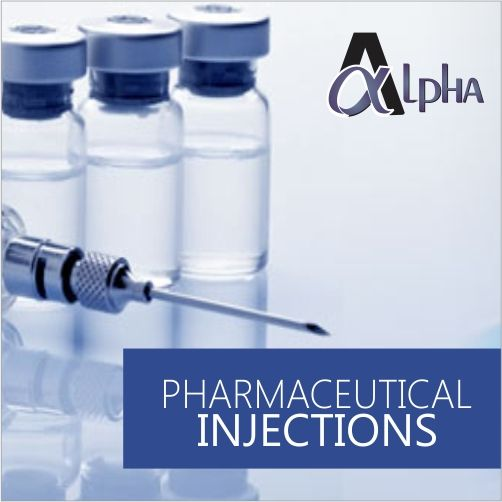 We at Alpha Drugs achieved a renowned position in the market by providing an all-encompassing assortment of Pharmaceutical Injection. The offered injection is highly admired by our honorable clients owing to its best results & accurate composition. The provided injection is precisely formulated using quality assured material with the aid of progressive processing techniques at our sound production unit. Furthermore, clients can avail this injection from us at most reasonable price.
