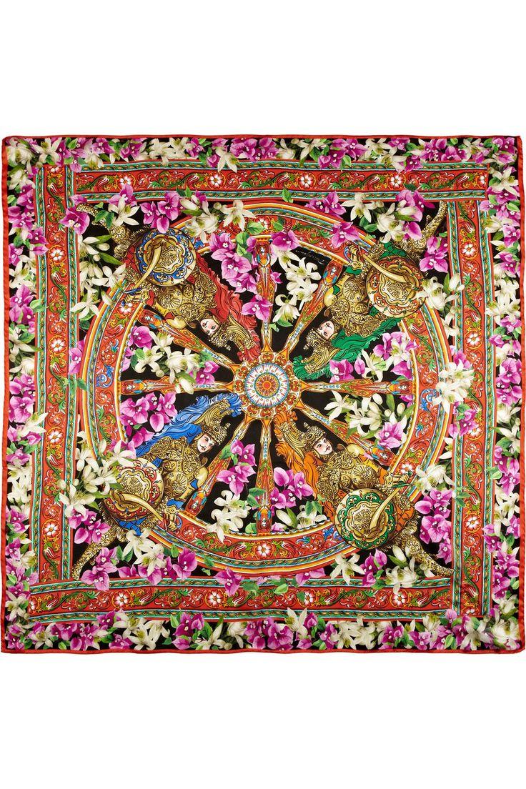 Réveillon arc-en-ciel | Dolce & Gabbana | Silk scarves ...