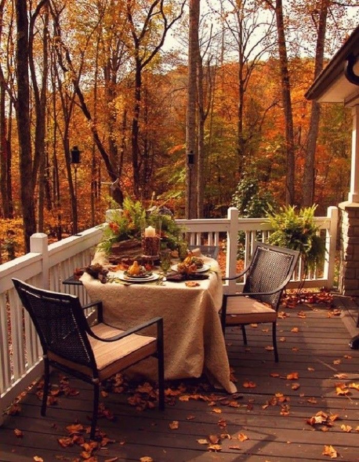 работе картинки осень на загородном доме принтом
