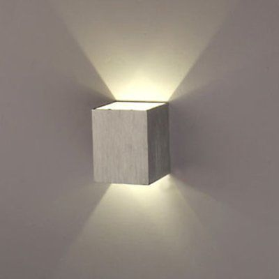 cuadrado w led lmpara de pared saln porche paseo dormitorio saln hogar accesorio de luz