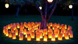 paper bag lights wedding