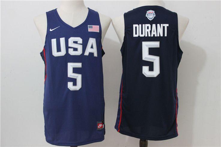 NBA 2016 USA Dream Team #5 Durant Jersey Navy Blue