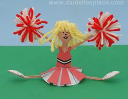 13 best plastic fork and spoon crafts images on pinterest for Cheerleading arts and crafts