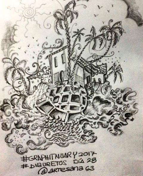 HenArte & TIC's: #graphitnuary2017 #DibuRetosDía 28 Por el placer d...