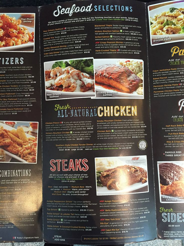 Ruby Tuesday Menu Menu Ruby Tuesdays Menu Tuesday