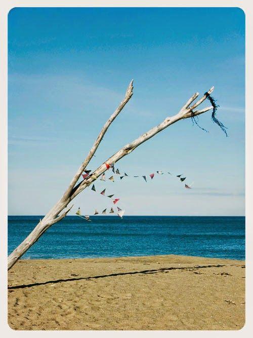 Small Acorns: a beach bunting