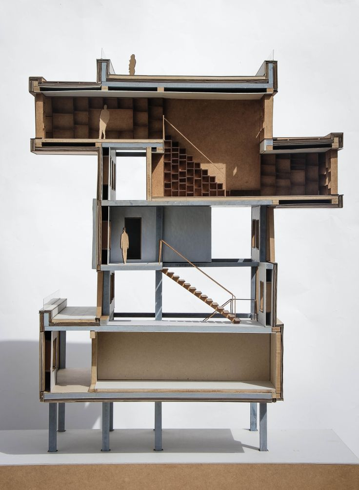 1:20 architectural model, Aarhus school of Architecture, The In-between vs. the Enclosed, Art installation in Prora for the Udk Berlin