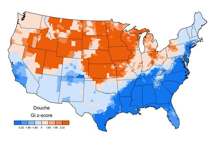Jack Grieve swear map of USA GI z-score DOUCHE