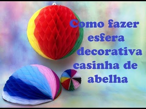 COMO FAZER BALÃO ESFÉRICO TIPO CASA DE ABELHA - YouTube