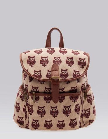 Bershka Mexico - Owl print backpack