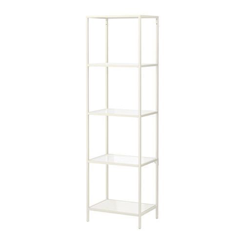 IKEA - VITTSJÖ, Shelving unit Something like this as a bedside table - must find one where the height lines up well