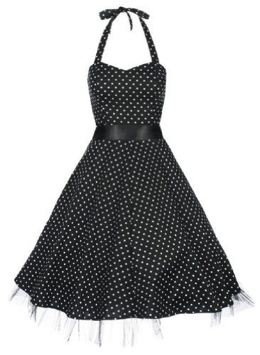 Lindy Bop 'Bonnie' Black Polka Dot Vintage 1950′S « Dress Adds Everyday