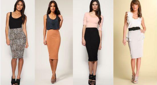 Длинная юбка-карандаш для летнего гардероба
