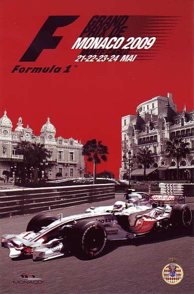Formula 1 2009 Monaco Grand Prix poster - Click Image to Close