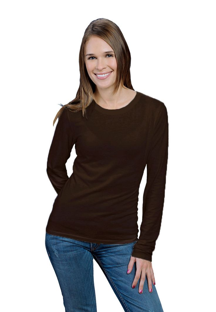 ONNO women's bamboo and organic cotton long sleeve shirt in ...