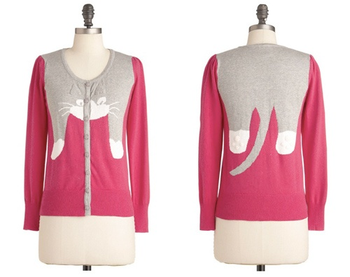 Cat Cardigan.  Hope it comes in black & white.