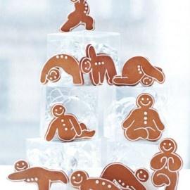 galletas con poses de yoga... si no puedes aprenderlas, cómelas.