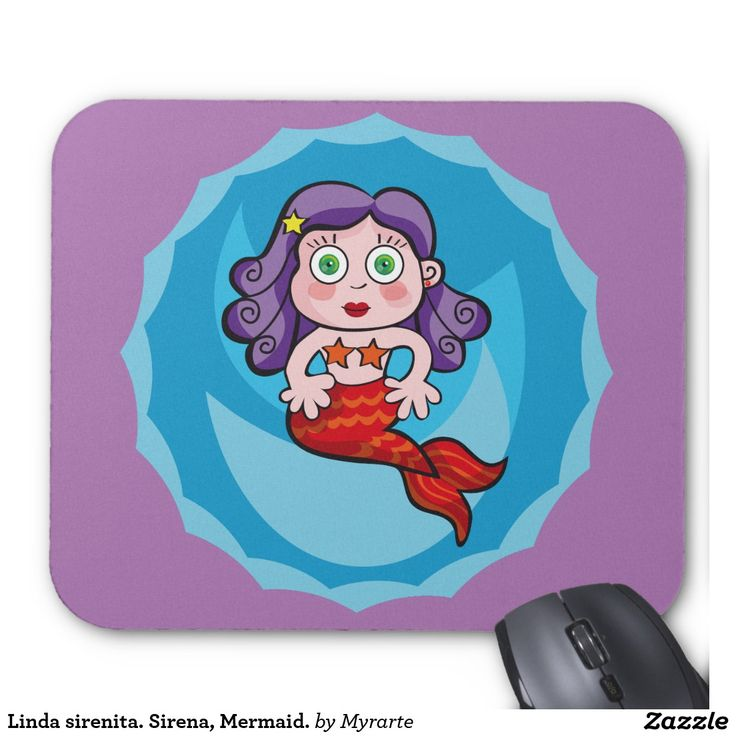 Linda sirenita. Sirena, Mermaid. Regalos, gifts. #Mousepads.