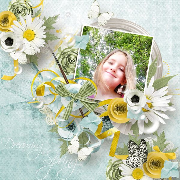 Collections :: D :: Dreaming of Spring by Moosscrap's Designs :: Dreaming of Spring - full kit