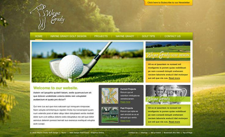 Website design for Wayne Grady Golf Design. #websitedesign #webdesign #web #design #graphicdesign #website #websites