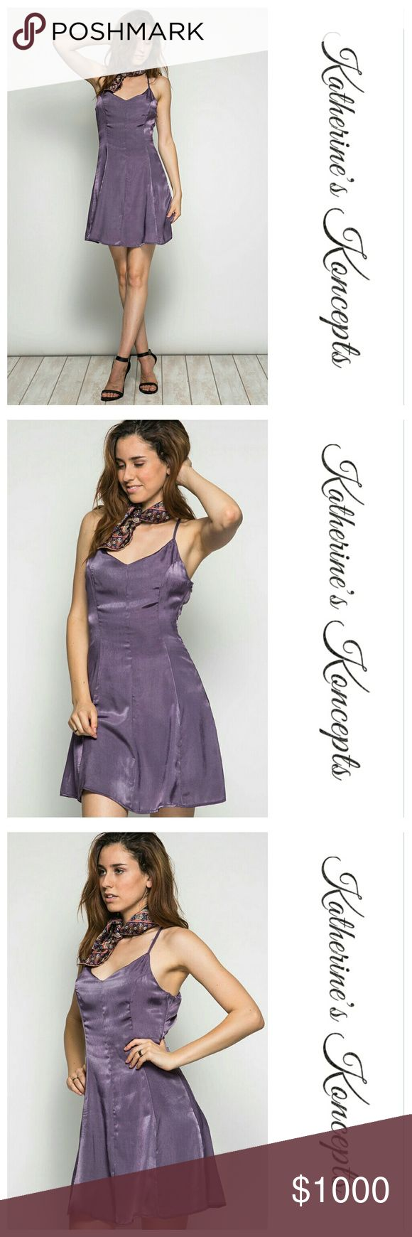 Coming soon!! Satin Strappy A-line Dress Open Back New boutique dusty purple, satin, open back, A-line  dress!!! Coming soon! This beautiful dress works for every occasion and season, dates, girls night, or family fun. 70% cotton 30% Poly. Currently only available in purple. These will be $20 each! Save even more by bundling. ❤The item you see is the exact item you will receive. Shop with confidence! ♥Brand new boutique items ♥100% Smoke and pet free environment  ♥Same or next business day…