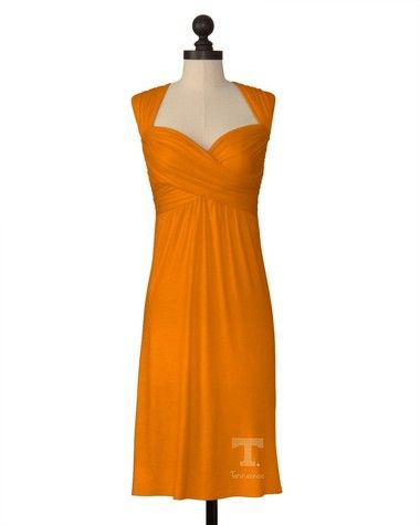Totally got this dress at the UT bookstore for half price... But without the power T..... Tennessee Volunteers   Team Criss-Cross Dress   meesh & mia