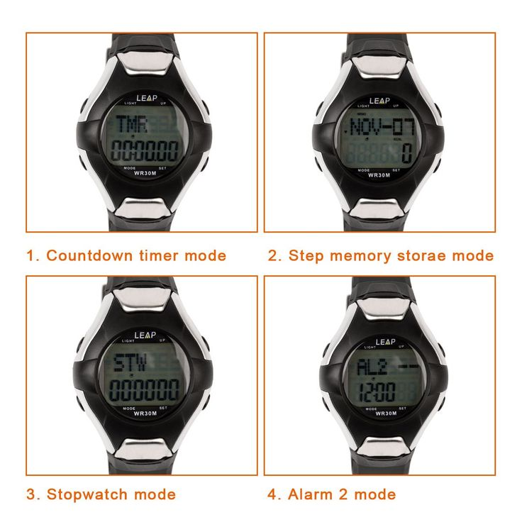 Ckeyin Digital Multifunction 30m Waterproof Heart Rate Monitor Pedometer Calories Counter Sports Watch For Men or Woman. Normal time: Hour, Second, Day and Weekend; 12/24hr format. Calendar: Yr2000-2099. 2-set alarm: Daily alarm Hourly chime. 1/100 Second Chronograph: ranging from 0 to 59:59:99, with SPL function. Countdown function, up to 23hr.59min. Pedometer Mode: smart step for 7 seconds (1)Three types of pedometer: total steps/time display mode - total steps /exercise time display…