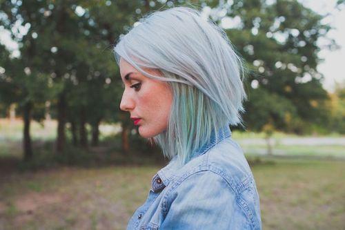 bluish and greenish silver