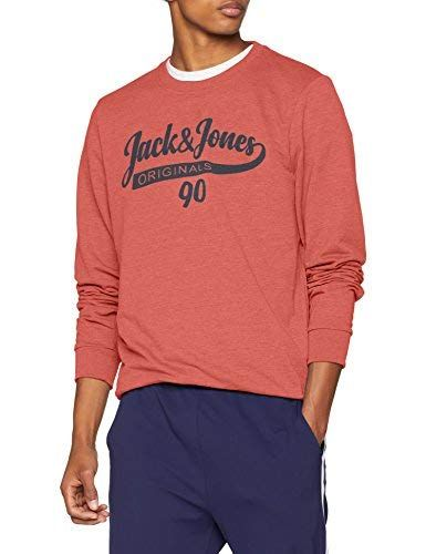 JACK   JONES Herren Sweatshirt Jorgalions Sweat Crew Neck ... 096d365ba0