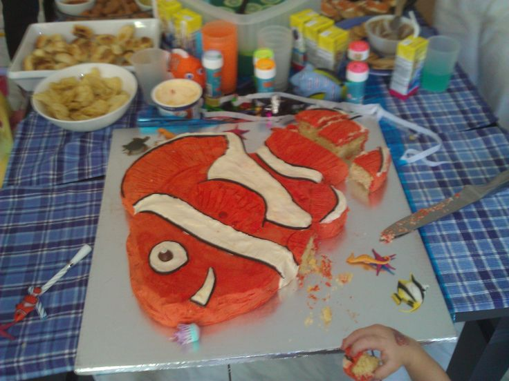 Nemo cake for Jacks 2nd Birthday party.