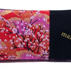 Cadeau maîtresse original, trousse à crayons en tissu japonais, cadeau de fin d'année
