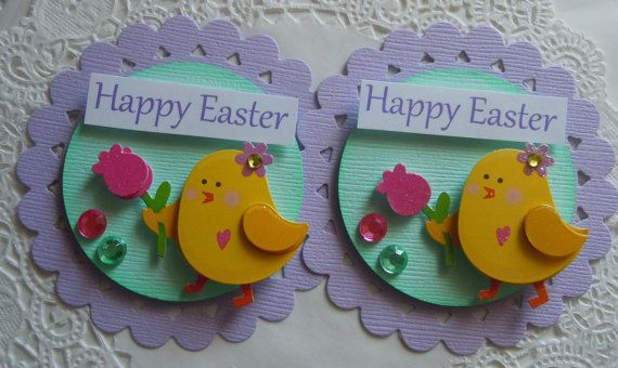 Spring/Easter Chick Embellishments on Etsy, $4.29