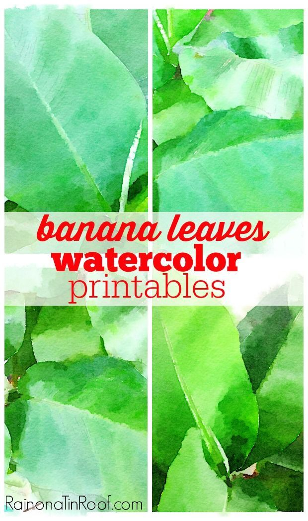 These would be GORGEOUS framed - and so much cheaper than other art! They are FREE! Instant Art: Banana Leaves Watercolor Printables