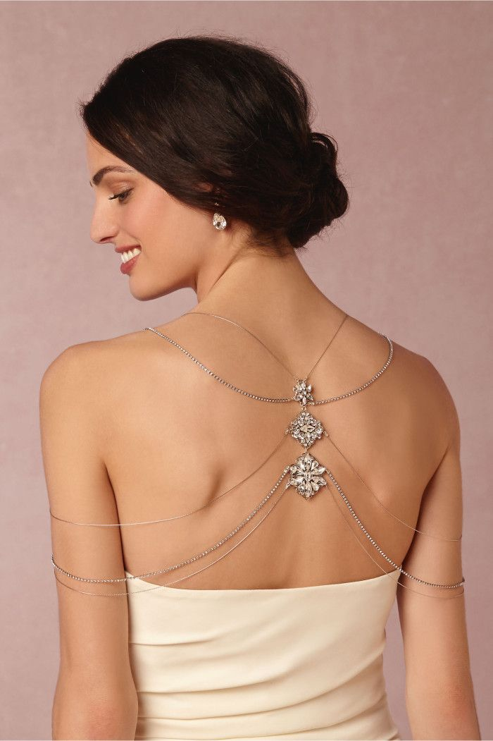 Nika Necklace | Bridal back necklace from BHLDN