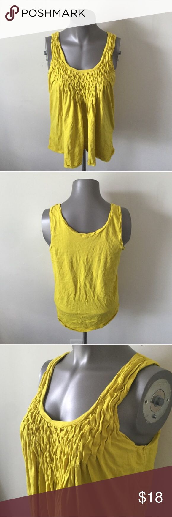 Mustard yellow tank top from J. Crew Beautiful mustard yellow tank top from JCrew, size Medium. J. Crew Tops Tank Tops