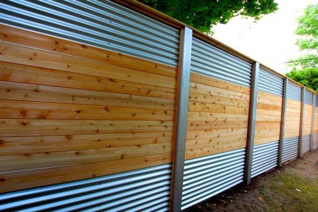 Cl ture hybride c dre aluminium et acier galvanis for Recouvrement de patio en bois