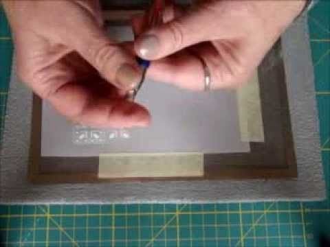 PARCHMENT CRAFT EMBOSSING, PERFORATING ON GRIDS BY EWA MARIA PIECHOTA - YouTube