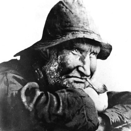 This photograph is of Bussle Smith a famous old North End fisherman.