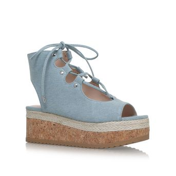 Benny Denim Flatform Sandals from KG Kurt Geiger