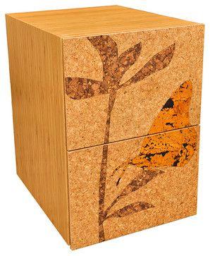 Iannone Design - Cork Filing Cabinet - Pedestal modern-filing-cabinets-and-carts