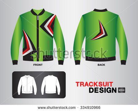 green tracksuit design vector illustration